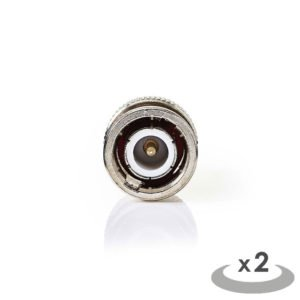 NEDIS CSGP02960GD SMA - BNC Adapter SMA Male - BNC Male 2 pieces Gold / Metal | ΚΑΛΩΔΙΑ / ADAPTORS | elabstore.gr