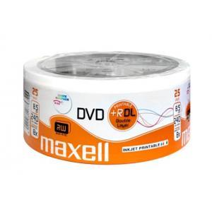 MAXELL DVD+R Double Layer, 8.5GB/240min, 8x speed, printable, Cake 25 | Αναλώσιμα - Είδη Γραφείου | elabstore.gr