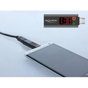 DELOCK Adapter USB 2.0 Micro με LED indicator για Voltage και Ampere   Αξεσουάρ κινητών   elabstore.gr