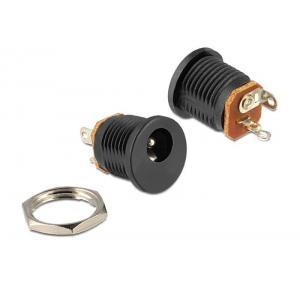 DELOCK Installation socket DC 2.5 x 5.5mm | Service | elabstore.gr