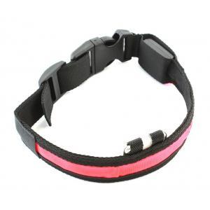 Περιλαίμιο σκύλου AG232 με φωτισμό LED, 34-44cm, μαυρο/κόκκινο | Gadgets | elabstore.gr