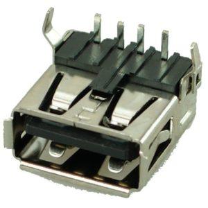 USB 2.0 Connector A TYPE, up Solder up, Silver/Black   Service   elabstore.gr