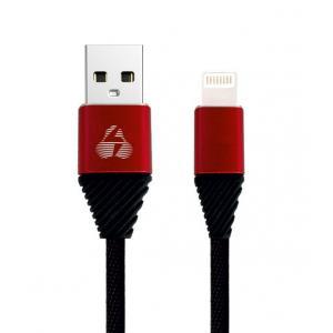 POWERTECH Καλώδιο USB σε Lightning alu PTR-0012, copper, 1m, μαύρο | Αξεσουάρ κινητών | elabstore.gr