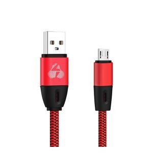 POWERTECH Καλώδιο USB σε Micro USB eco flat PTR-0034 copper 1m, κόκκινο | Αξεσουάρ κινητών | elabstore.gr