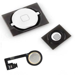 Πλήκτρο Home button με Flex για iPhone 4s, White | Service | elabstore.gr