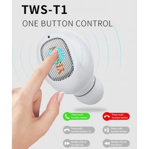 YISON bluetooth headset TWS-T1-GR, true wireless, με θήκη φόρτισης, γκρι | Αξεσουάρ κινητών | elabstore.gr