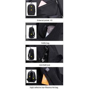 ARCTIC HUNTER τσάντα πλάτης B00207-BK με θήκη laptop, USB, μαύρη   Οικιακές & Προσωπικές Συσκευές   elabstore.gr