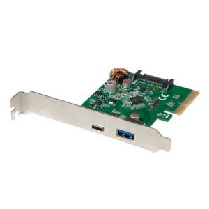 Pci Express to 1xUSB 3.1 Gen2 1xType-C  Logilink PC0081 | PCI ADAPTORS | elabstore.gr
