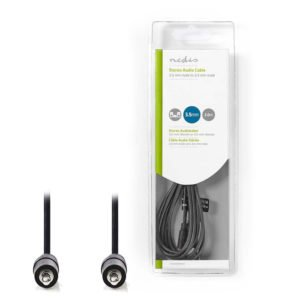 NEDIS CAGB22000BK20 Stereo Audio Cable 3.5 mm Male - 3.5 mm Male 2.0m Black | ΚΑΛΩΔΙΑ / ADAPTORS | elabstore.gr