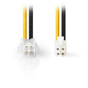 NEDIS CCGP74310VA015 Internal Power Cable P4 Male - P4 Female 0.15 m Various | ΚΑΛΩΔΙΑ / ADAPTORS | elabstore.gr