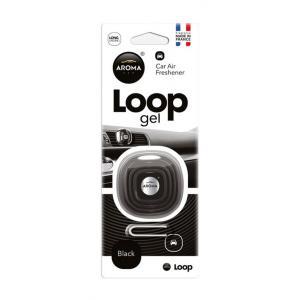 AROMA CAR Αρωματικό αυτοκινήτου Loop Gel 63113, 27γρ, μαύρο | Gadgets | elabstore.gr