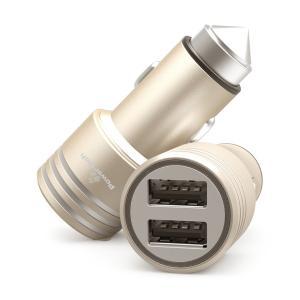 POWERTECH Φορτιστής Αυτοκινήτου PT-758, 2x USB, 2.1A, χρυσός   Αξεσουάρ κινητών   elabstore.gr