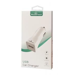POWERTECH Φορτιστής Αυτοκινήτου PT-762, 1x USB, 1A, λευκός | Αξεσουάρ κινητών | elabstore.gr