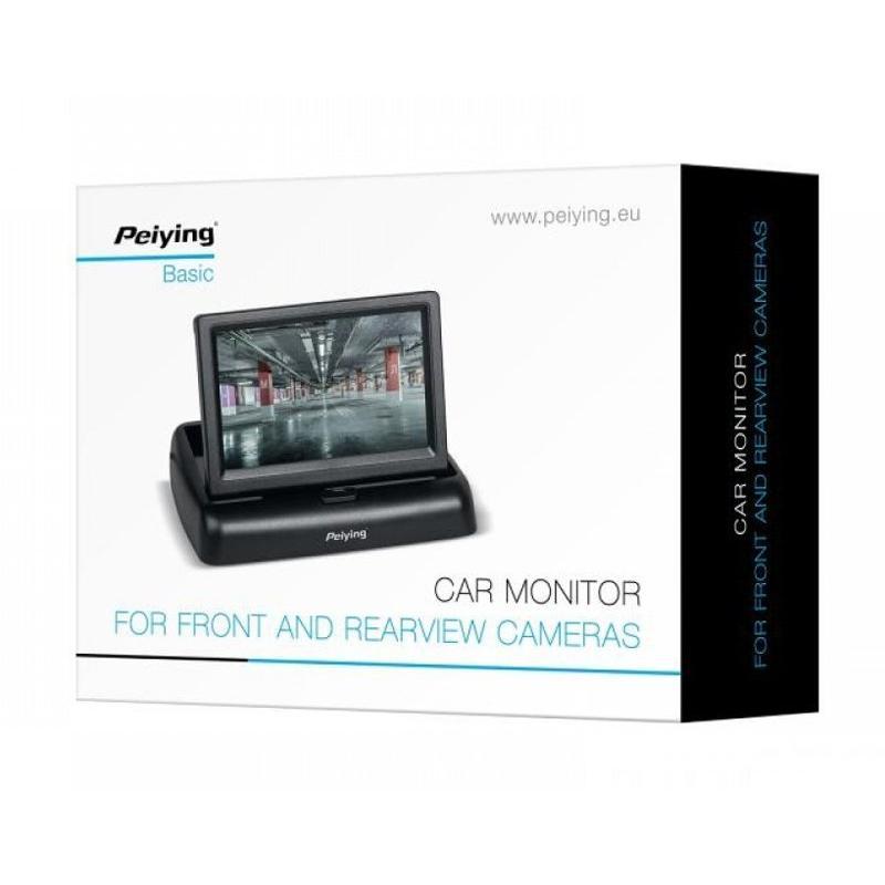 PEIYING Οθόνη αυτοκινήτου PY0107 για κάμερες, έγχρωμη 16:9,μαύρη | Gadgets | elabstore.gr