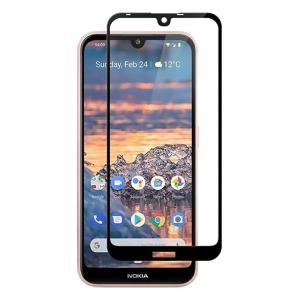 POWERTECH Tempered Glass 5D Full Glue, Nokia 3.2, μαύρο | Αξεσουάρ κινητών | elabstore.gr