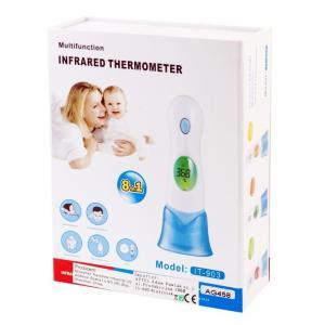 Ηλεκτρονικό θερμόμετρο υπερύθρων με οθόνη AG458, λευκό | Οικιακές & Προσωπικές Συσκευές | elabstore.gr
