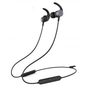 YISON Earphones E17-BK, Bluetooth 5.0, multipoint, με μαγνήτη, μαύρα | Αξεσουάρ κινητών | elabstore.gr