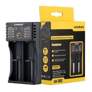 LIITOKALA φορτιστής LII-202 για μπαταρίες NiMH/CD, Li-Ion, IMR, 2 slots | Μπαταρίες | elabstore.gr