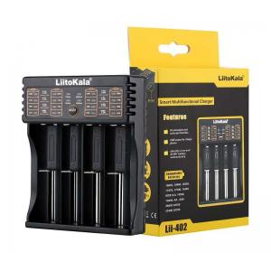 LIITOKALA φορτιστής LII-402 για μπαταρίες NiMH/CD, Li-Ion, IMR, 4 slots | Μπαταρίες | elabstore.gr