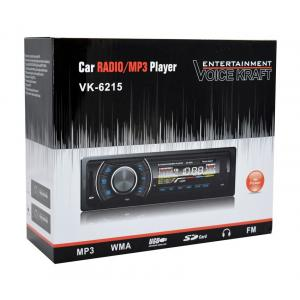 VOICE KRAFT car audio VK6215-BL, MP3-FM AUX/SD/USB, χειριστήριο, μπλε | Gadgets | elabstore.gr