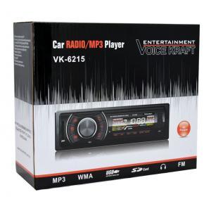 VOICE KRAFT car audio VK6215-BL, MP3-FM AUX/SD/USB, χειριστήριο, κόκκινο   Gadgets   elabstore.gr