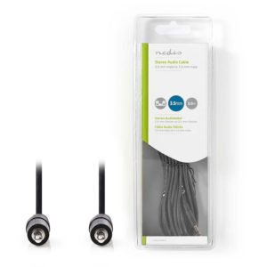 NEDIS CAGB22000BK50 Stereo Audio Cable 3.5 mm Male - 3.5 mm Male 5.0m Black | ΚΑΛΩΔΙΑ / ADAPTORS | elabstore.gr