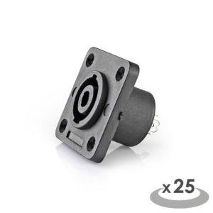 NEDIS CAVC16902BK Speaker Connector Speaker 4-pin Female 25 pieces Square Black | ΚΑΛΩΔΙΑ / ADAPTORS | elabstore.gr