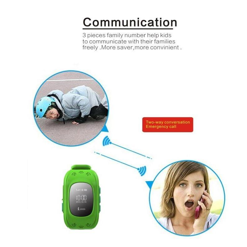 INTIME GPS Παιδικό ρολόι χειρός IT-025, SOS, βηματομετρητής, πράσινο   GPS   elabstore.gr