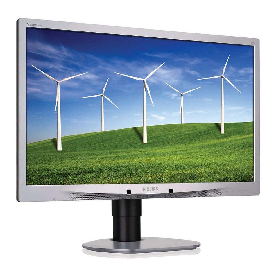 "PHILIPS used οθόνη 241B4 LED, 24"" Full HD, VGA/DVI-D/DP, με ηχεία, SQ | Refurbished PC & Parts | elabstore.gr"