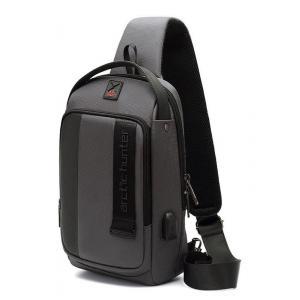 ARCTIC HUNTER Τσάντα Crossbody XB00100-GY, USB, αδιάβροχη, γκρι | Οικιακές & Προσωπικές Συσκευές | elabstore.gr