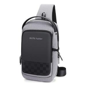 ARCTIC HUNTER Τσάντα Crossbody XB00105-BK, USB, αδιάβροχη, γκρι | Οικιακές & Προσωπικές Συσκευές | elabstore.gr