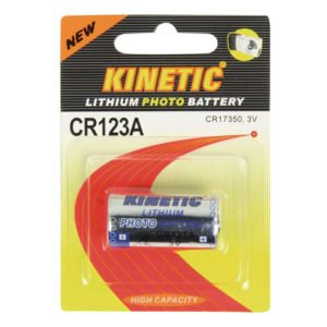 CR123A Kinetic Lithium Battery 3 V 1-Blister | ΜΠΑΤΑΡΙΕΣ / ENERGY | elabstore.gr