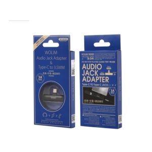 Adaptor Type C 2in1 3.5mm & Type C WDC-094a Black | MOBILE COMPONENTS | elabstore.gr