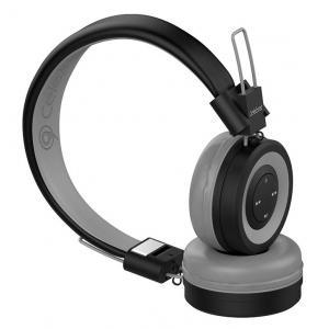 CELEBRAT Bluetooth headphones A4-GY, wireless & wired, 40mm, μαύρο-γκρι   Αξεσουάρ κινητών   elabstore.gr