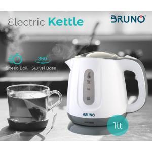 BRUNO Ηλεκτρικός βραστήρας BRN-0027, 1100w, 1t, βάση 360° | Οικιακές & Προσωπικές Συσκευές | elabstore.gr