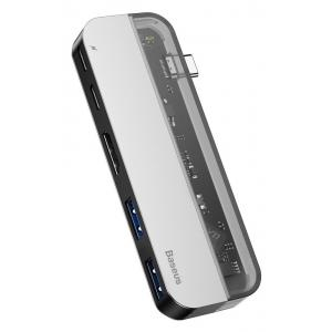 BASEUS USB Type-C HUB CAHUB-TD0G, 2x USB 3.0, Type-C, HDMI 4k | Συνοδευτικά PC | elabstore.gr