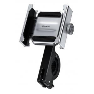 BASEUS βάση μηχανής για smartphone CRJBZ-0S Knight, μεταλλική, ασημί   Αξεσουάρ κινητών   elabstore.gr