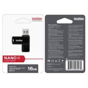 IMATION USB Flash Drive Nano II KR03020001, 16GB, USB 2.0, μαύρο   Συνοδευτικά PC   elabstore.gr