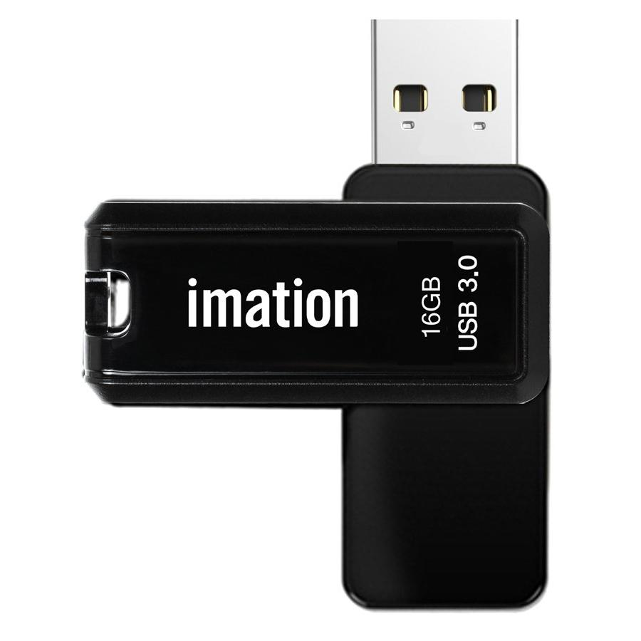 IMATION USB Flash Drive Nano Pro II KR03020005, 16GB, USB 3.0, μαύρο | Συνοδευτικά PC | elabstore.gr