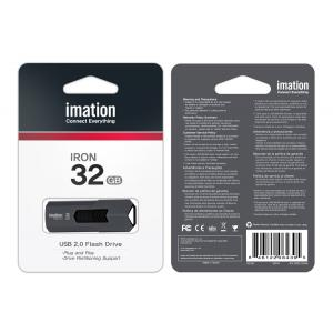 IMATION USB Flash Drive Iron KR03020046, 32GB, USB 2.0, γκρι | Συνοδευτικά PC | elabstore.gr