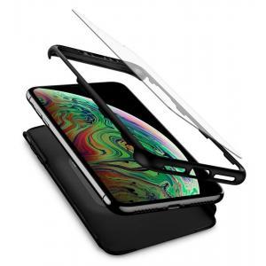 POWERTECH Θήκη Body 360° με Tempered Glass για Samsung A70, μαύρη | Αξεσουάρ κινητών | elabstore.gr