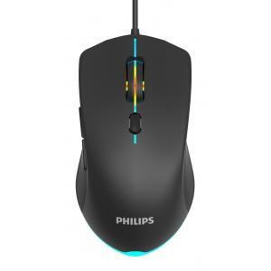 PHILIPS ενσύρματο gaming ποντίκι SPK9404, 2400DPI, 6 πλήκτρα, μαύρο   Συνοδευτικά PC   elabstore.gr