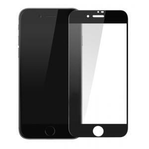 POWERTECH Tempered glass Gold series, full glue iPhone 6/7/8 Plus, μαύρο | Αξεσουάρ κινητών | elabstore.gr