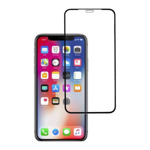 POWERTECH Tempered glass High series, full glue, iPhone ΧS Max, μαύρο | Αξεσουάρ κινητών | elabstore.gr