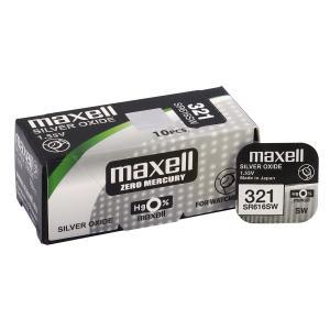 MAXELL Μπαταρία λιθίου για ρολόγια SR616SW, 1.55V, No321, 10τμχ | Μπαταρίες | elabstore.gr