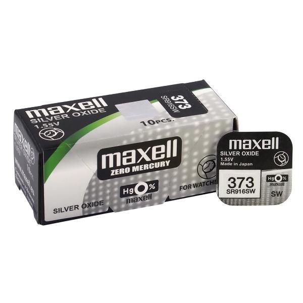 MAXELL Μπαταρία λιθίου για ρολόγια SR916SW, 1.55V, No373, 10τμχ | Μπαταρίες | elabstore.gr