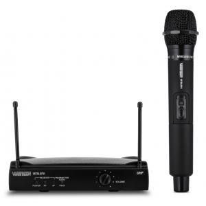VOICE KRAFT Σετ ασύρματο μικρόφωνο με βάση, jack 6.3mm, μαύρη | Εικόνα & Ήχος | elabstore.gr