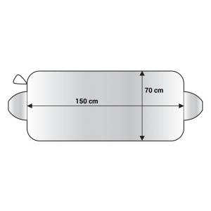 AMIO Ηλιοπροστασία παρμπρίζ αυτοκινήτου 01389, 150x70cm | Gadgets | elabstore.gr