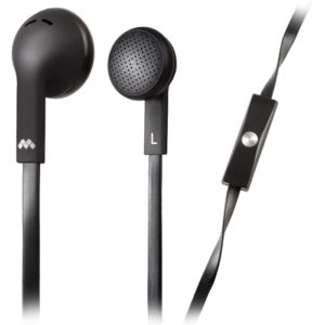 MELICONI MYSOUND SPEAK FLAT BLACK IN-EAR STEREO HEADSET (WITH MICROPHONE) | SMARTPHONES / TABLETS / GPS | elabstore.gr