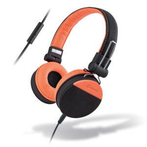 MELICONI MYSOUND SPEAK STYLE BLACK/ORANGE ON-EAR STEREO HEADPHONE (WITH MICROPHO | SMARTPHONES / TABLETS / GPS | elabstore.gr